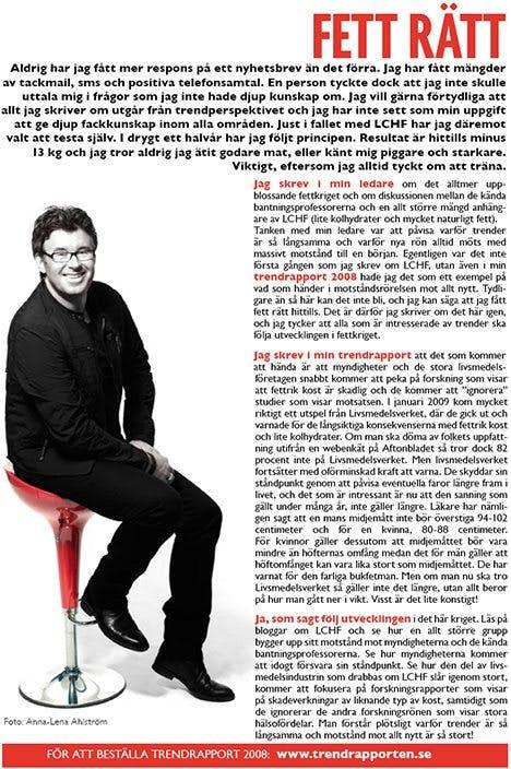Ur Göran Adléns nyhetsbrev februari 2009