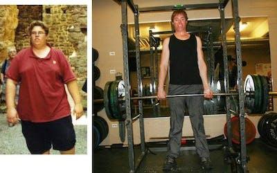 Före och efter 85 kilo viktnedgång