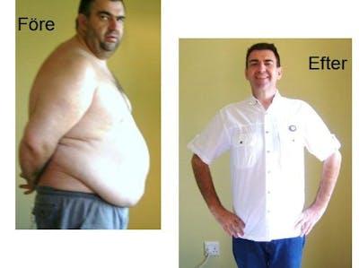 Före och efter 77 kilo