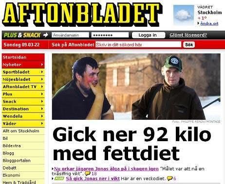 Aftonbladets Förstasida
