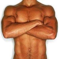 Muskulös man