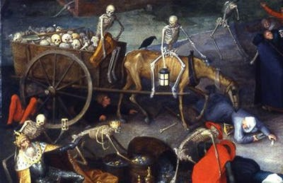 Detalj från Pieter Bruegels The Triumph of Death