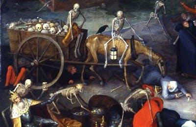 Detalj från Pieter Bruegels The Triumph of Death