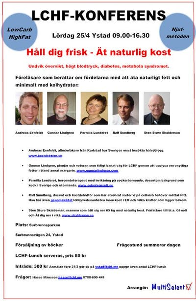 Ystad LCHF-konferens 25/4