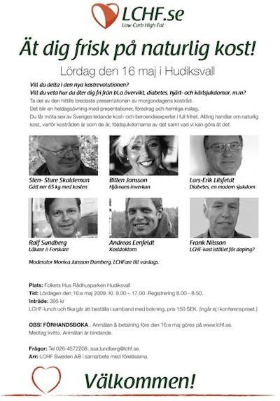 LCHF-Konferens Hudiksvall