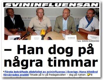 Manga svenskar sjuka i svininfluensan