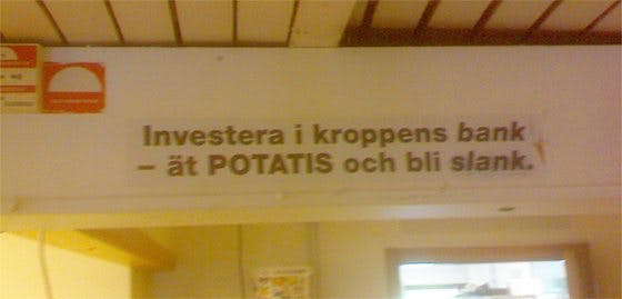 Slankande potatis