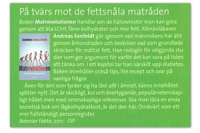 LevaMedDiabetes recension av Matrevolutionen