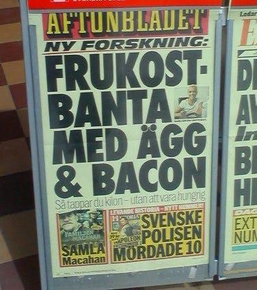 Frukostbanta med ägg & bacon