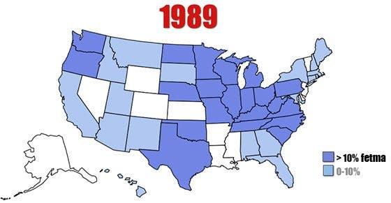 Fetmaepidemin i USA 1989 - 2010