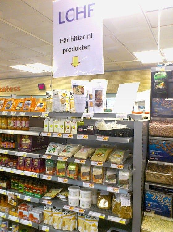 LCHF-hylla på ICA Supermarket