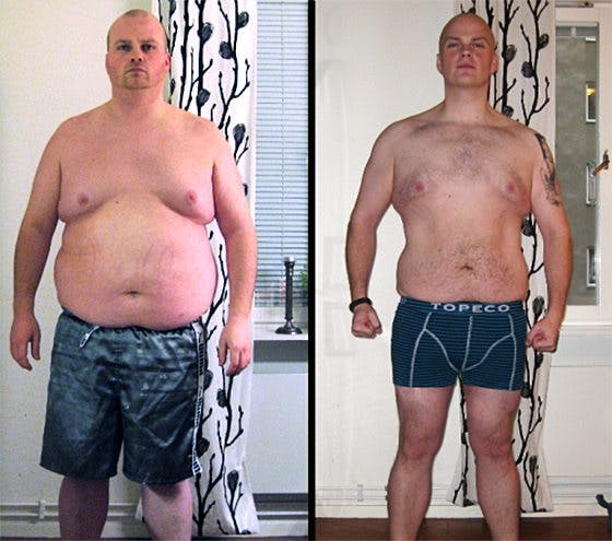 Före och efter 46 veckor med LCHF