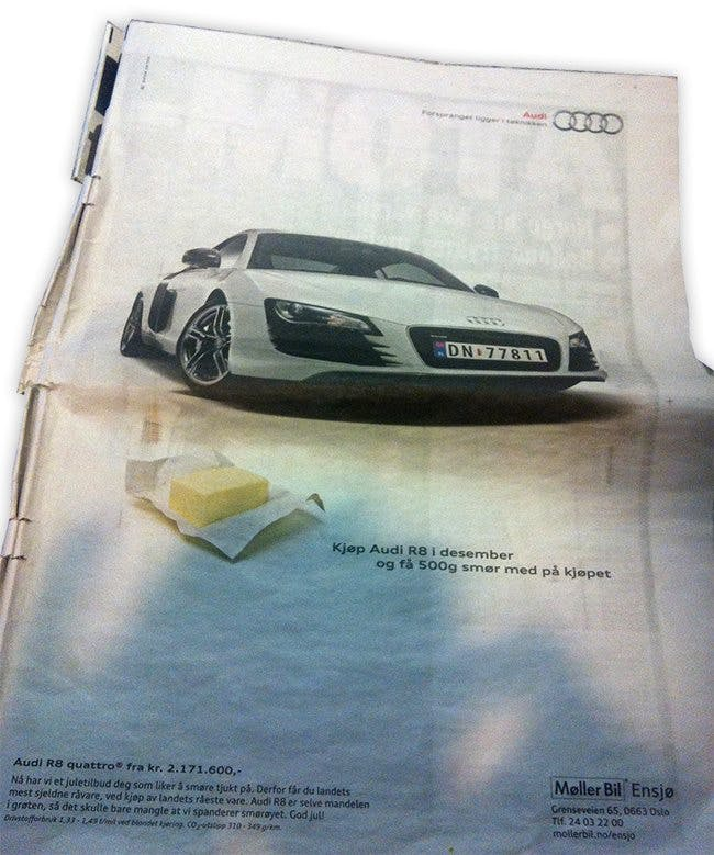 Köp bil, få smör