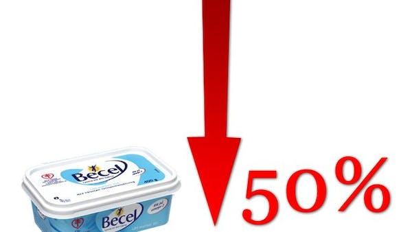 Försäljningen av lättmargarin rasar