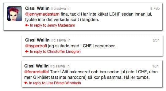 Cissi Wallins twitter