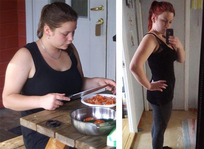 Amanda före och efter