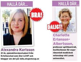 Sjuksköterskestudent och professor CE-A om LCHF