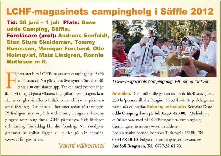 Kommer du till LCHF-campingen i Säffle?