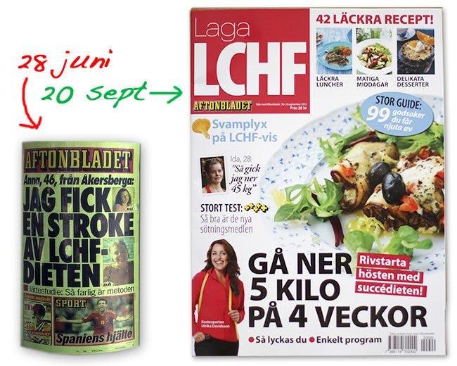 Aftonbladet äter LCHF-kakan och har den kvar