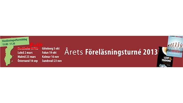 Uppdatering om årets föreläsningsturné om LCHF
