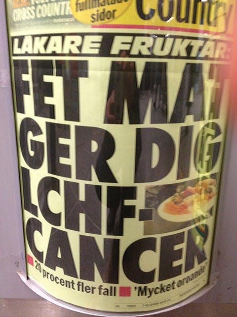 """Aftonbladet varnar för """"LCHF-cancer"""""""
