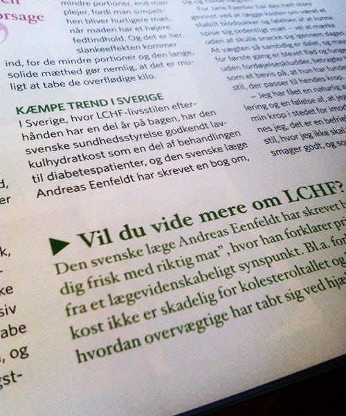LCHF tar fart i Danmark