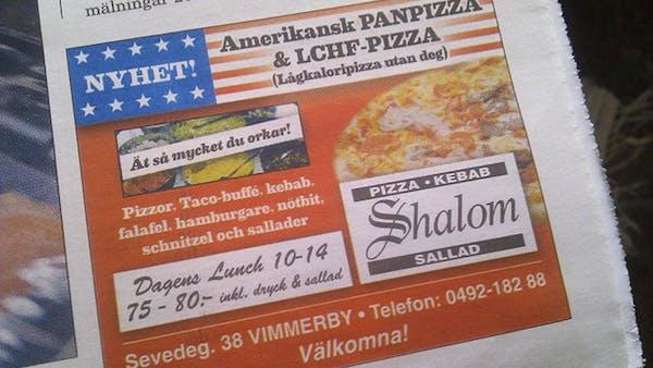 Vimsig LCHF-pizza i Vimmerby