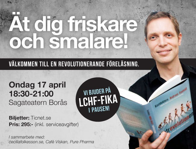 LCHF-föreläsning i Borås 17 april