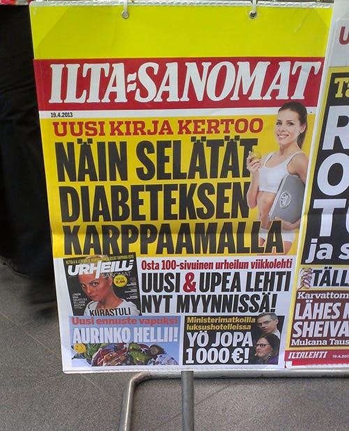 LCHF på löpsedlarna i Finland idag