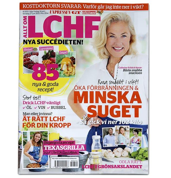 Expressen tipsar om viktminskning med LCHF