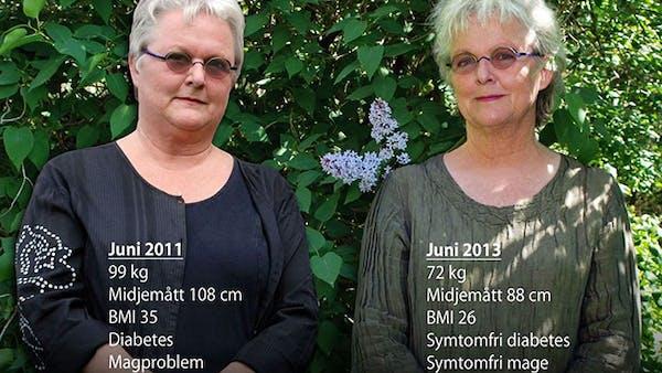 Före och efter två år med lågkolhydratkost