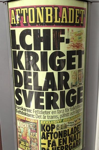 Aftonbladets löp: LCHF-kriget delar Sverige