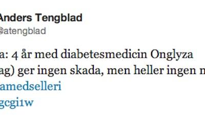 """Den nya diabetesmedicinen Onglyza är """"lika bra som selleri"""""""