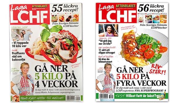 Aftonbladets Laga LCHF, januari och augusti