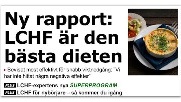 Aftonbladet: LCHF är den bästa dieten