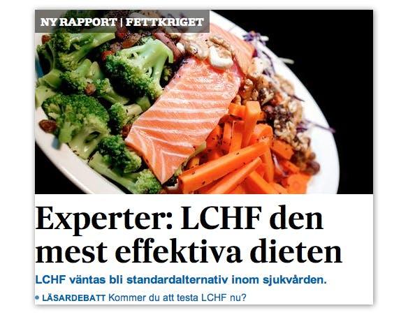 """""""LCHF väntas bli standardalternativ inom sjukvården"""""""