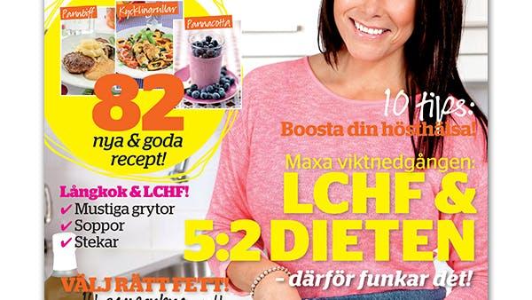 Expressens nya LCHF-bilaga: Nu med 5:2 och näringsberäkningar!