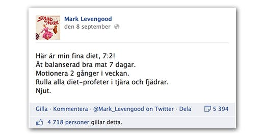 Är Mark Levengood född på mållinjen?