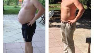 Före och efter en månad på LCHF