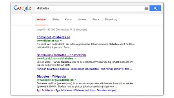 Diabetessidan närmar sig första plats