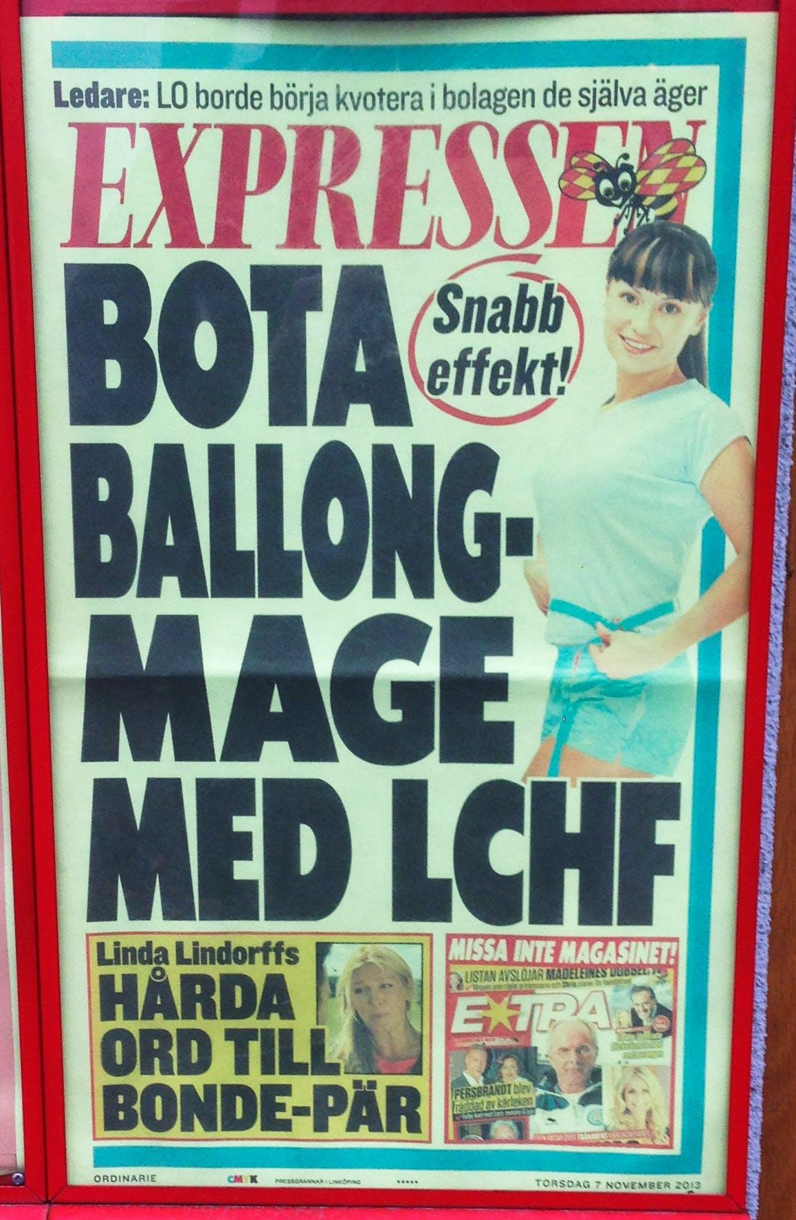 Bota ballongmage med LCHF