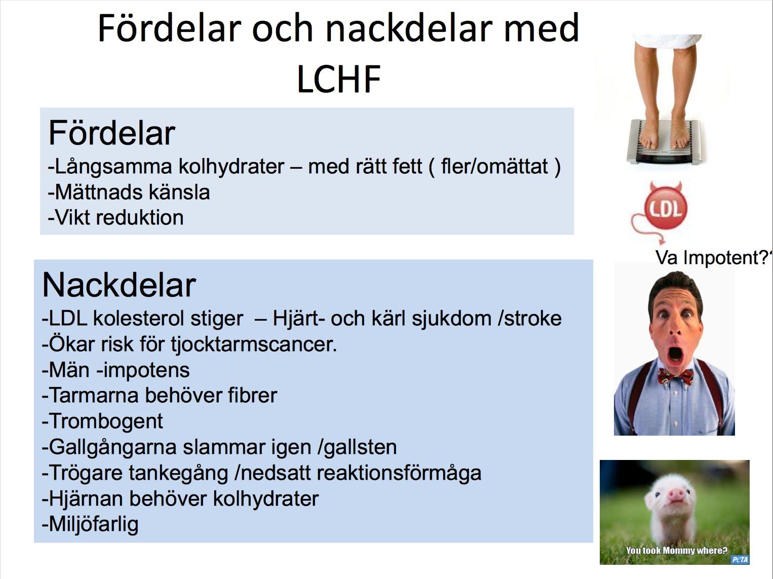 Pseudovetenskaplig skrämselpropaganda mot LCHF