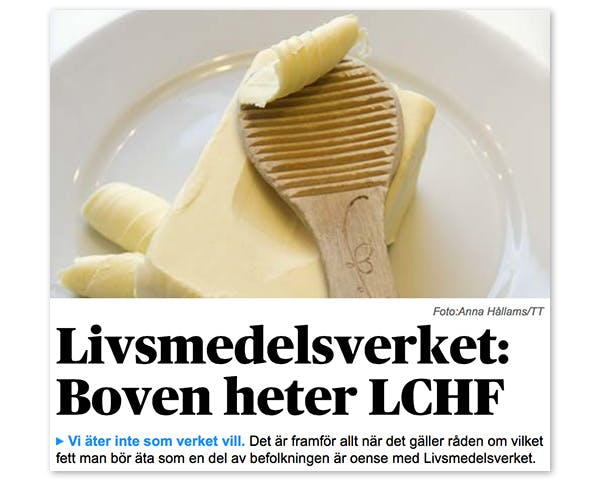 Boven heter LCHF