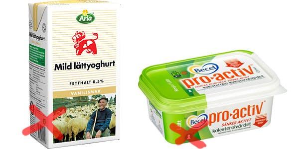 Lattprodukter Tappar Nyckelhalsmarkning Diet Doctor