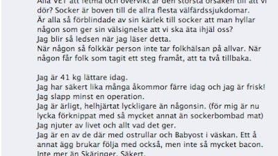 Het debatt om diethets och Mia Skäringer