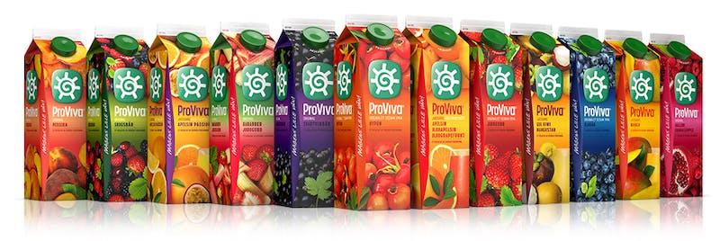 Proviva-drycker med runt 100 gram socker per liter