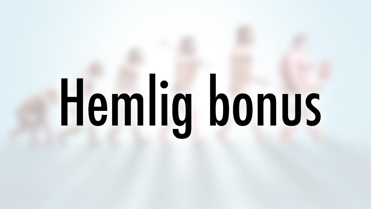 Hemlig bonus