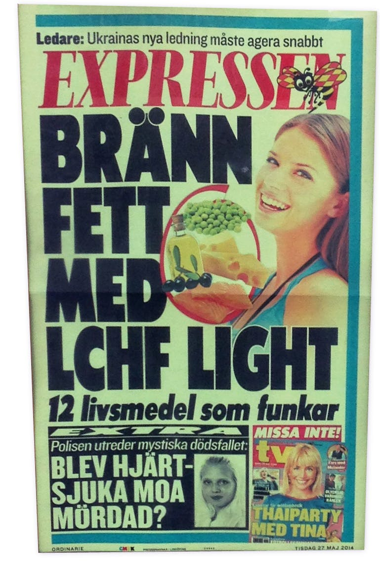 Expressens löpsedel: Bränn fett med LCHF light