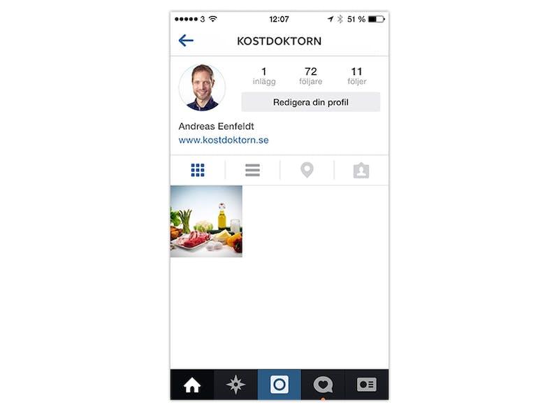 Kostdoktorn på Instagram