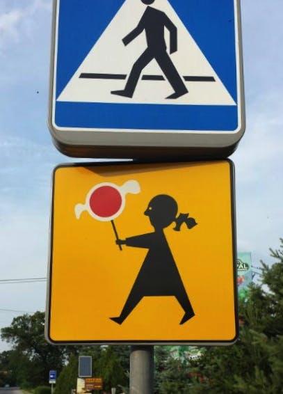 Varning för godisätande barn!